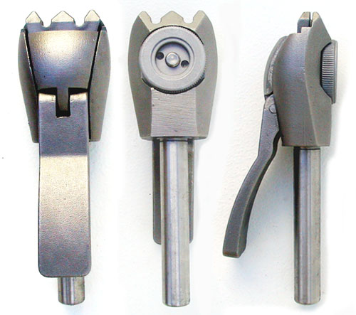 Heavy-duty thumb-adjustable stainless steel swivel clamp