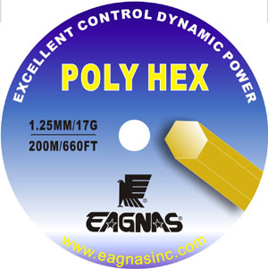 Eagnas Poly Hex Tennis string